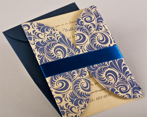 Pattern Gate Fold Invitation Style C