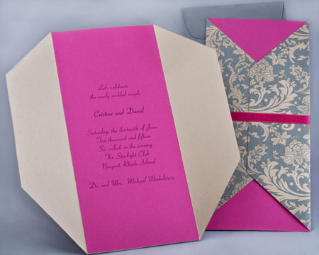Pattern Gate Fold Invitation Style F