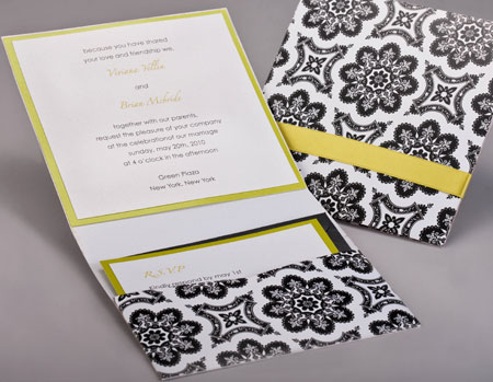 Pattern Pocket Invitations Style A1
