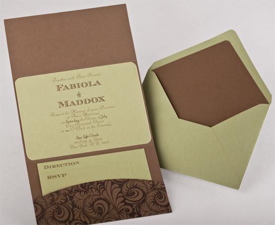 Pattern Pocket Invitations Style A3