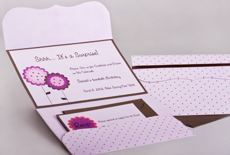 Pattern Pocket Invitations Style A9