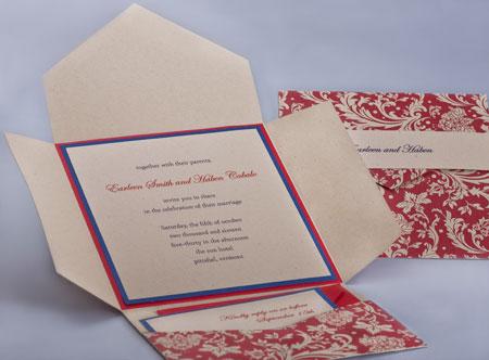 Pattern Pocket Invitations Style B2