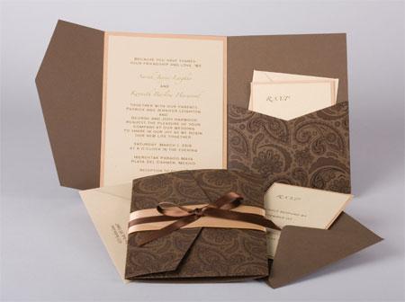 Pattern Pocket Invitations Style B5