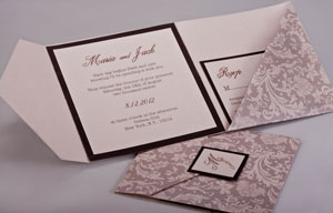 Pattern Pocket Invitations Style B6